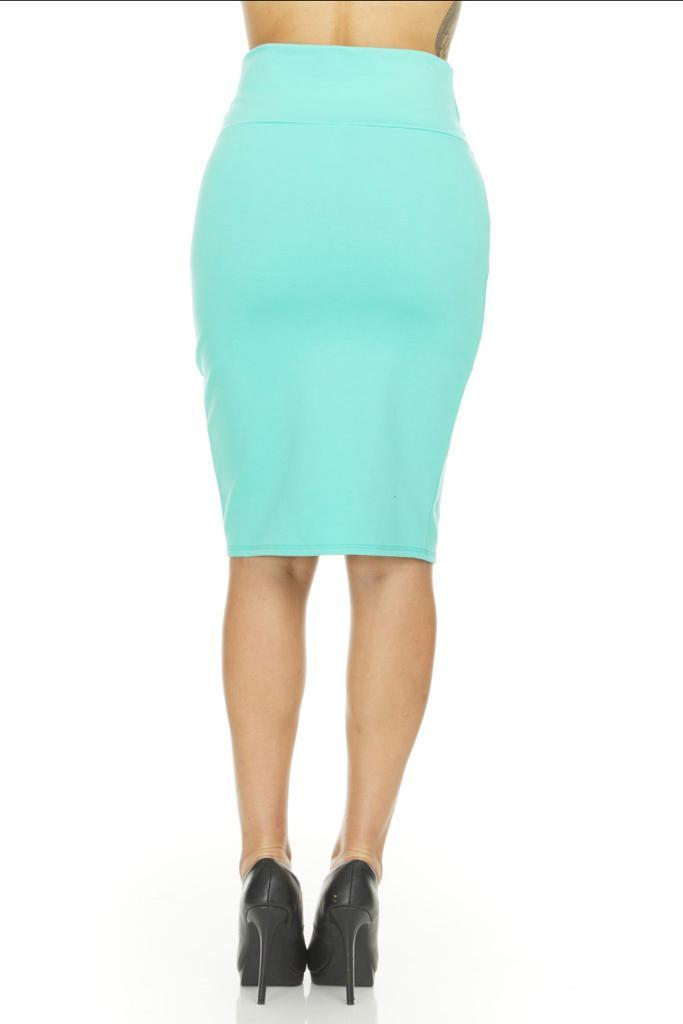 shopify-Fitted Pencil Skirt- 8 Colors-2