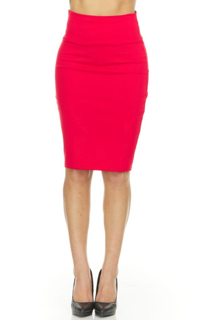 shopify-Fitted Pencil Skirt- 8 Colors-23