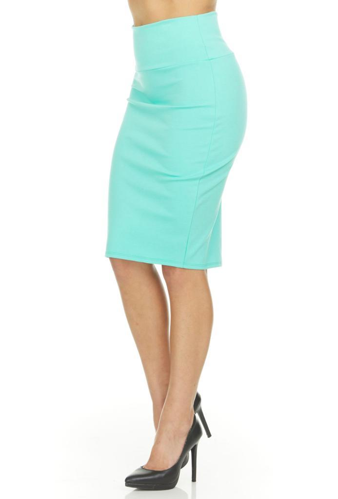 shopify-Fitted Pencil Skirt- 8 Colors-24