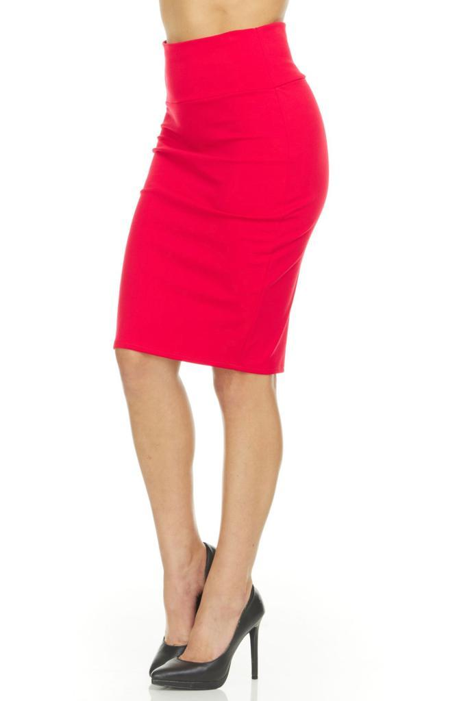 shopify-Fitted Pencil Skirt- 8 Colors-3