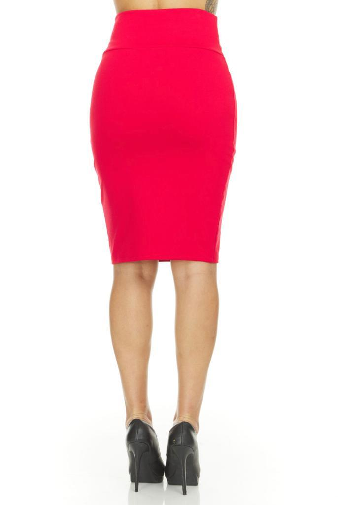 shopify-Fitted Pencil Skirt- 8 Colors-4