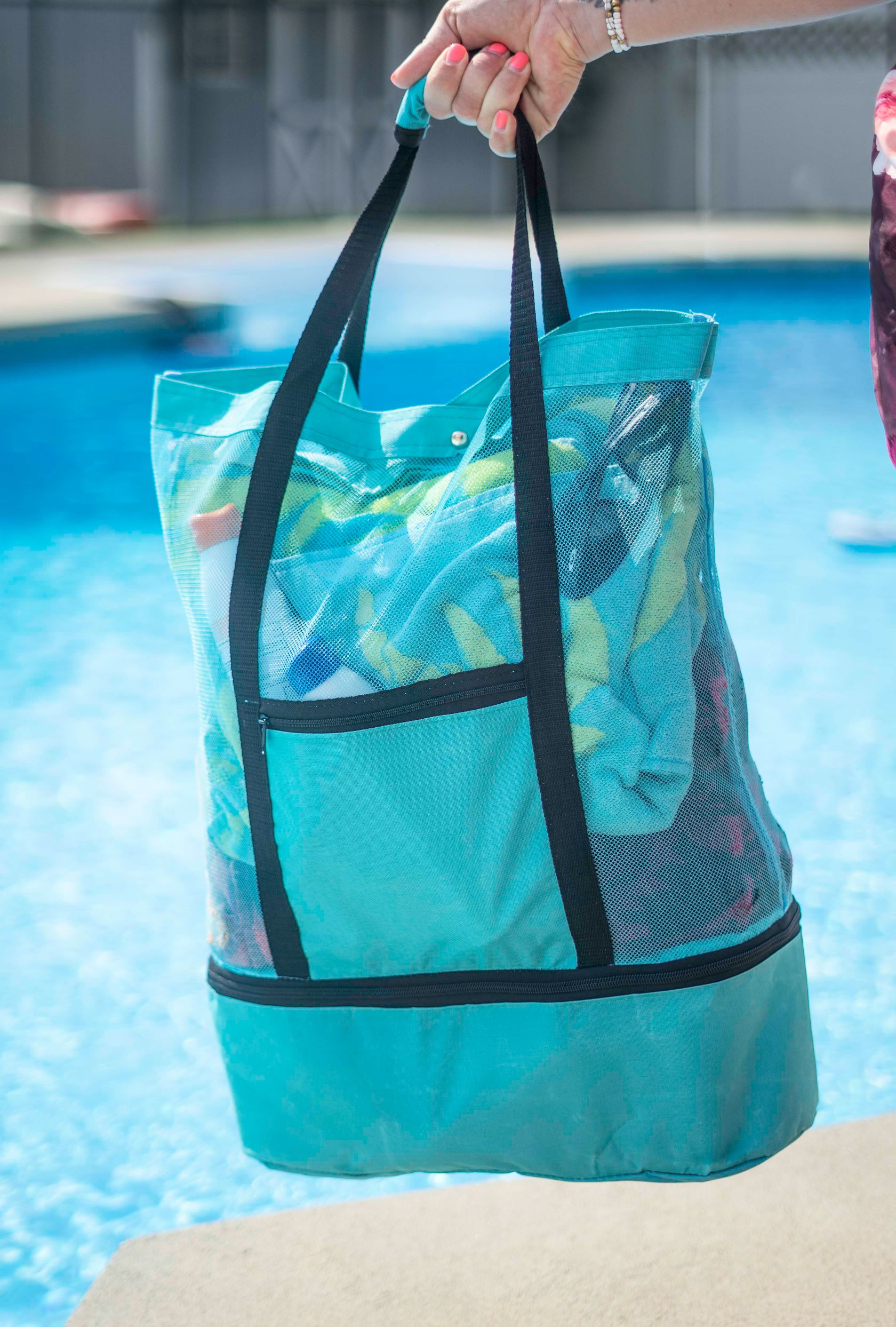 shopify-Insulated Cooler Picnic Beach Tote Bag-4