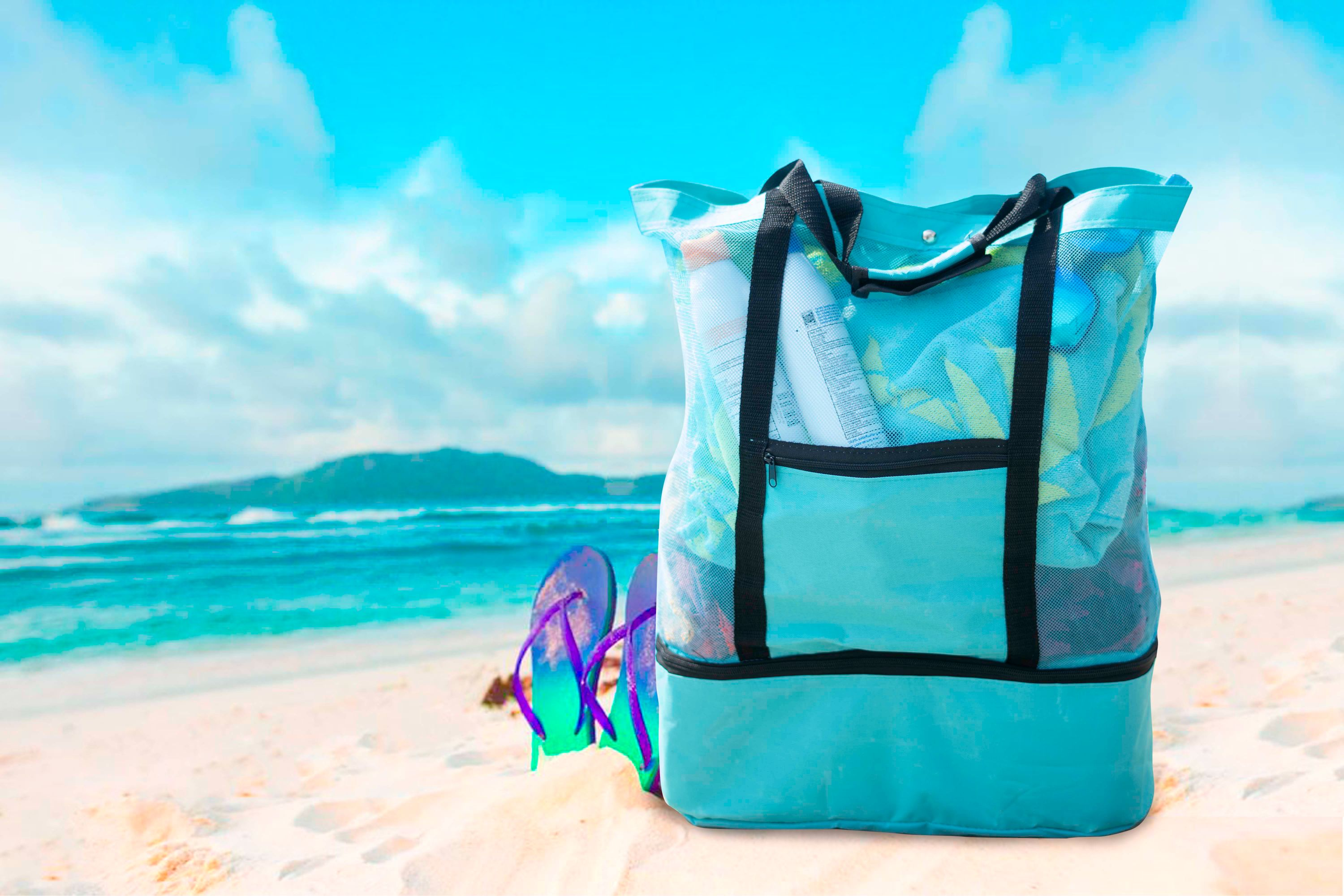 shopify-Insulated Cooler Picnic Beach Tote Bag-9