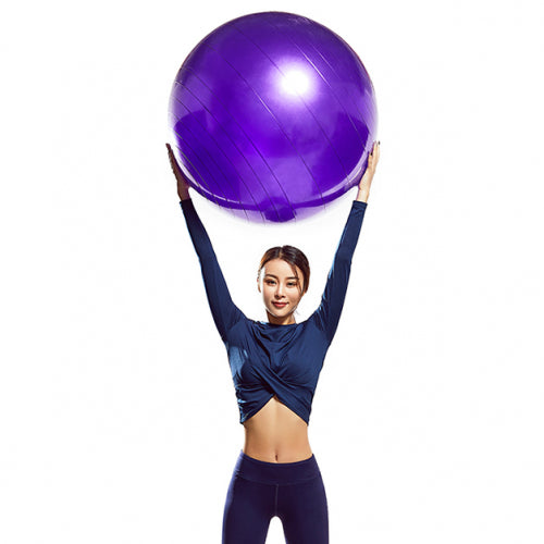 shopify-Sport Core Dual-Sided Exercise Gliding Disc & Non-Slip Yoga Stability Ball with Inflator-3