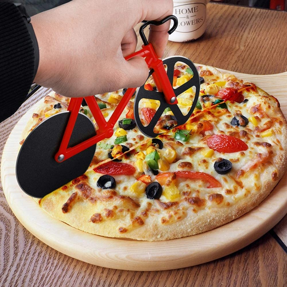 shopify-Stainless Steel Bicycle Pizza Cutter - 3 Colors-1