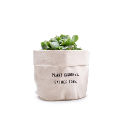 PLANT KINDNESS CANVAS PLANTER