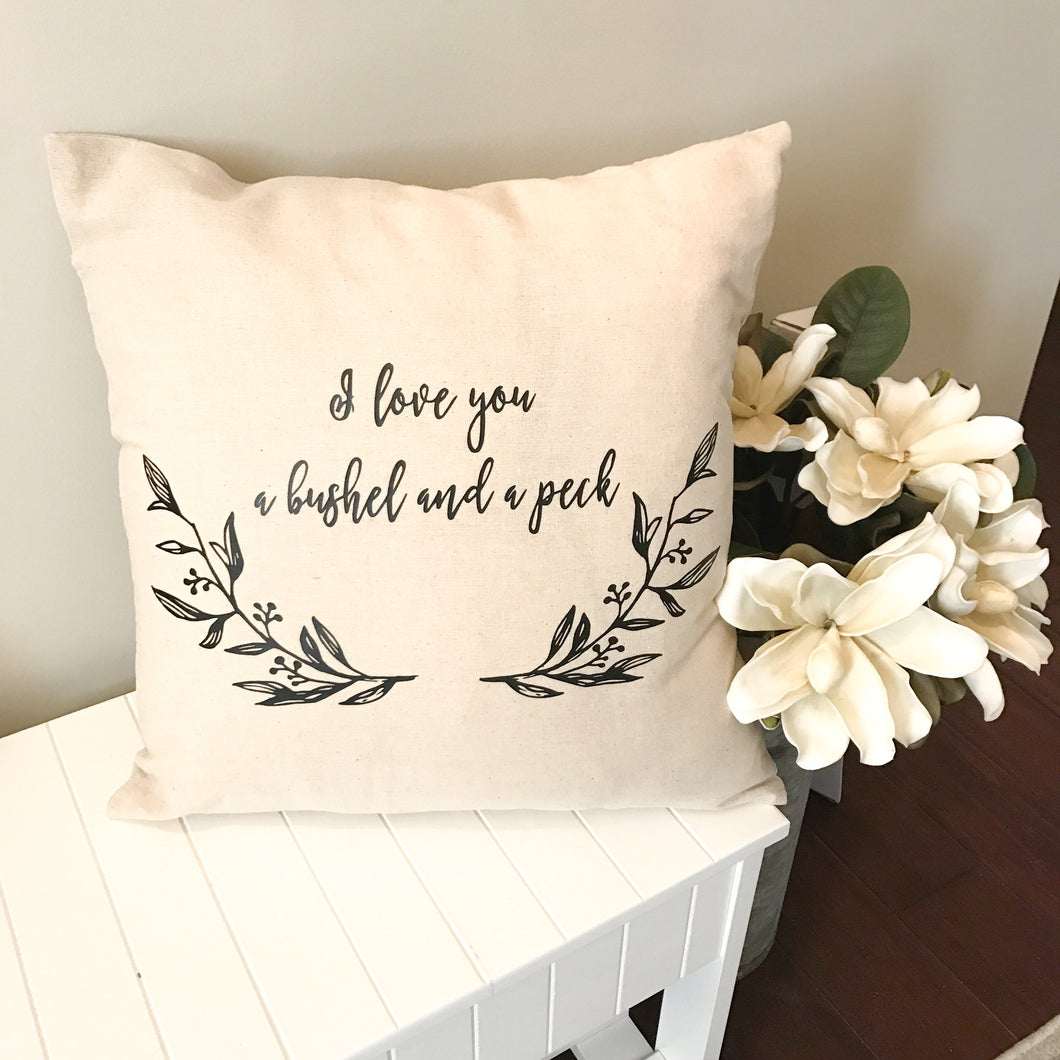 BUSHEL AND PECK PILLOW