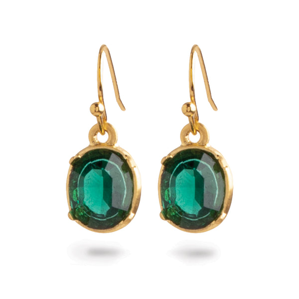 "Louis C. Tiffany ""Emerald"" Art Nouveau Earrings"