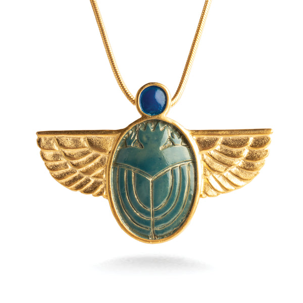 Louis Comfort Tiffany Scarab Brooch