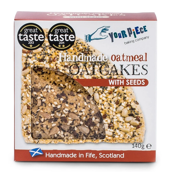 Your Piece handmade oatcakes with seeds