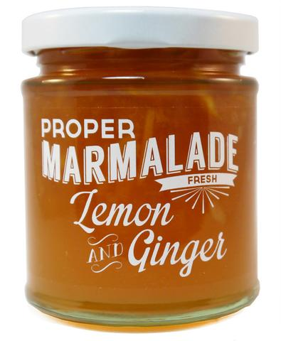 Proper marmalade lemon and ginger