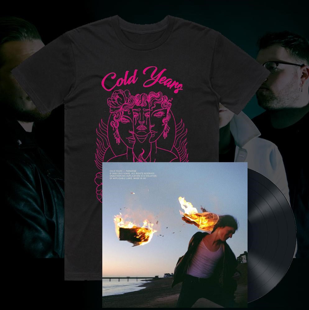 Cold Years – Good As Hell – T-Shirt (Pink on Black) & PARADISE vinyl bundle