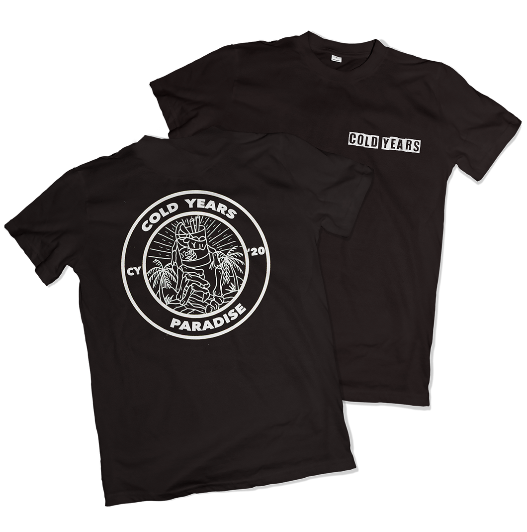Cold Years - Paradise Men's Black T-Shirt