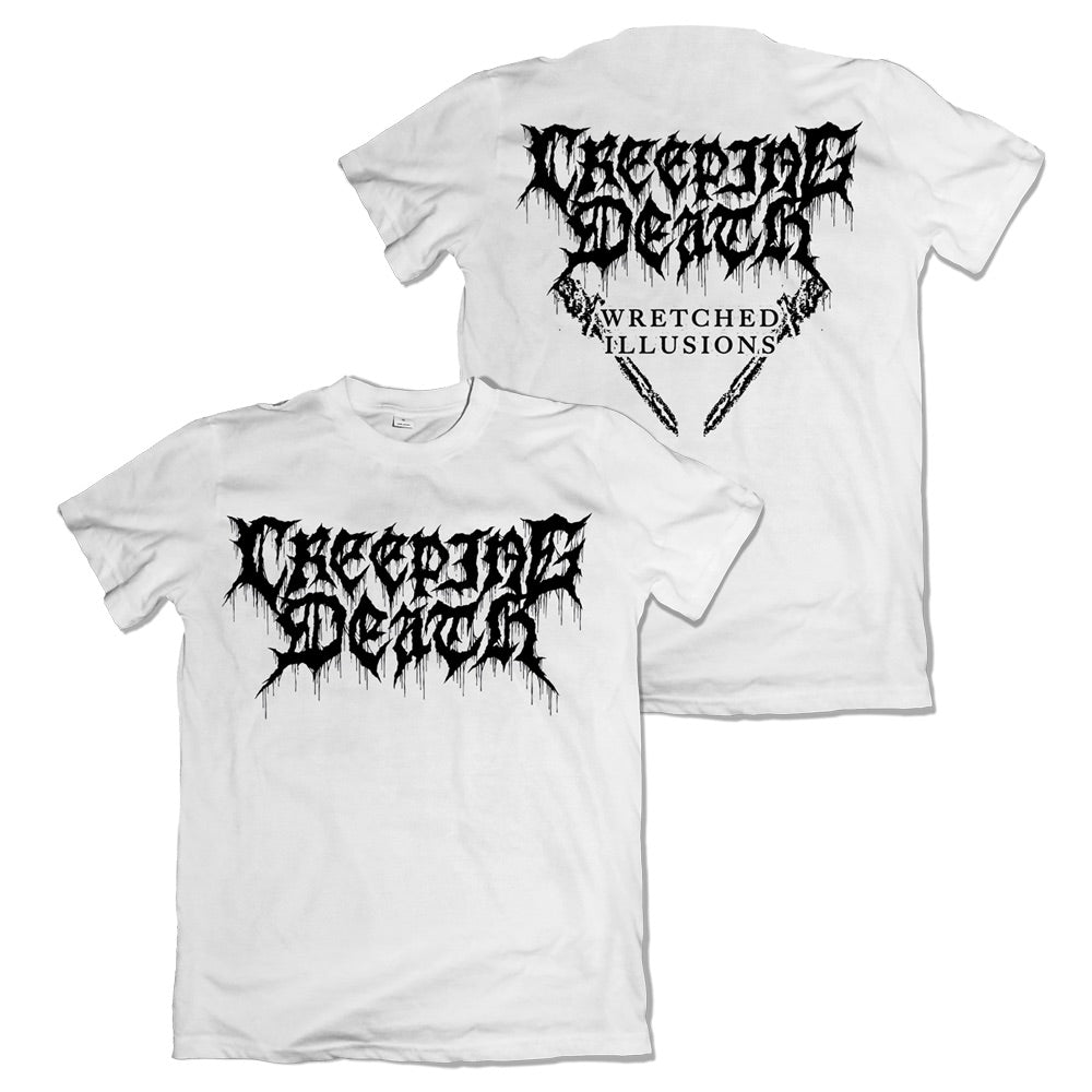 Creeping Death - Wretched Illusions White T-Shirt