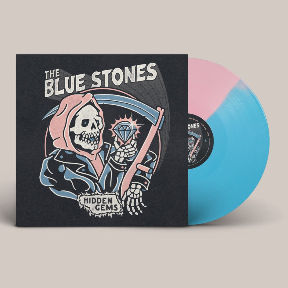 The Blue Stones - Hidden Gems - Vinyl - Half and Half Baby Blue and Baby Pink
