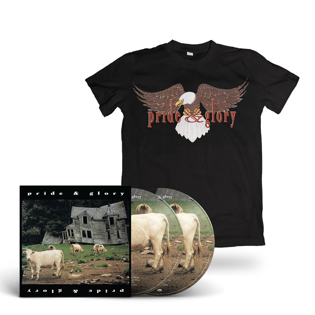 Pride & Glory - Bundle: 140G 2LP Pic Disc (White vinyl) with Gatefold Jacket + DL card + Pride & Glory Black T-Shirt
