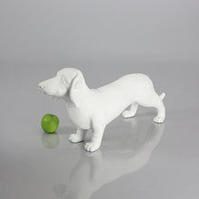 Load image into Gallery viewer, Dachshund Dog Mannequin: Matte White