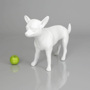 Chihuahua 2 Dog Mannequin: Matte White