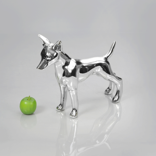 Chihuahua 1 Dog Mannequin: Chrome
