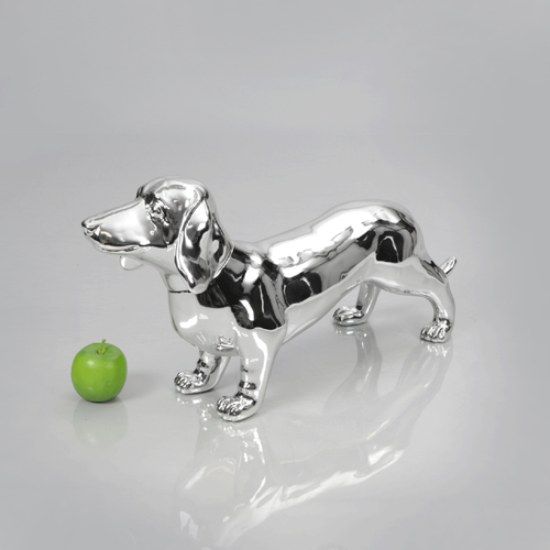 Dachshund Dog Mannequin: Chrome