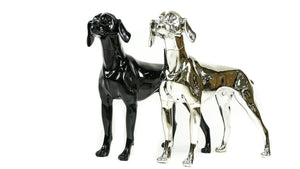 German Pointer Dog Mannequin: Chrome