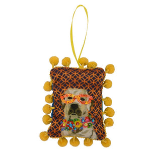 Dog with Glasses Ornament