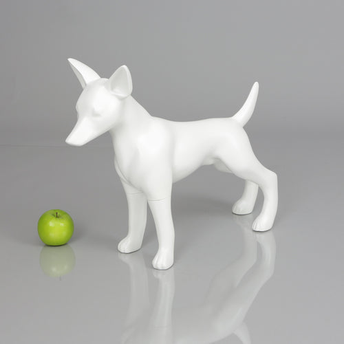 Chihuahua 1 Dog Mannequin: Matte White or Glossy Black