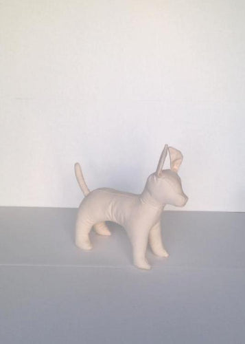 Chihuahua Cloth Dog Mannequin: Black or White