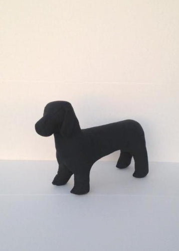 Dachshund Dog Mannequin: Black or White White