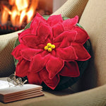 Poinsettia Christmas Accent Pillow