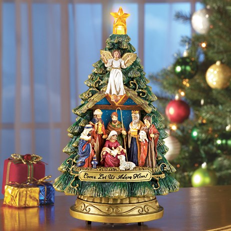 Musical Nativity Scene Christmas Tree