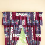 Multi color Patchwork Drapes Valance