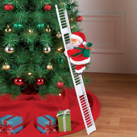 Santa Climbing Ladder Christmas Decoration