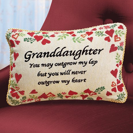 My Heart Granddaughter Pillow