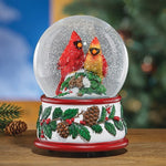 Hand-Painted Musical Cardinal Snow Globe