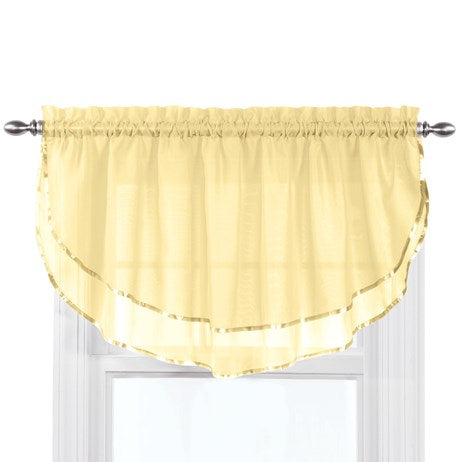 Elegance Sheer Ascot Light Yellow Window Valance