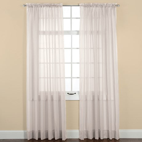 "Elegance Sheer Beige Window Curtain Panel(84""L x 60""W)"
