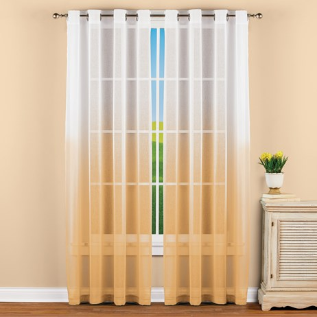 "Sheer Ombre Window Yellow Curtain Panel 63"" Panel"