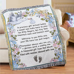 Welcome New Baby Tapestry Throw Blanket