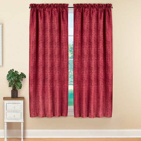 "Energy-saving Black Out Window Burgundy Curtain Panels(63""L x 52""W)"