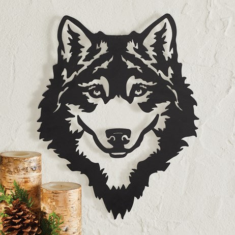 Silhouette Metal Wolf Head Wall hanging  Décor