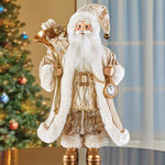 Golden Santa Claus Tabletop Christmas Figurine