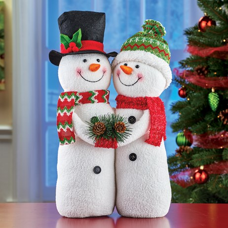 Snowman Couple Tabletop Christmas Decor