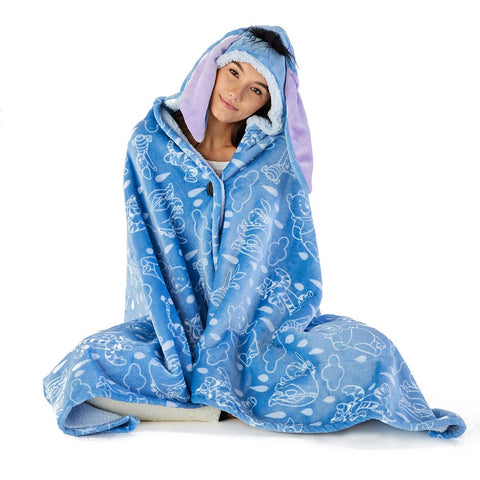 Hooded Fleece Throw for Adults