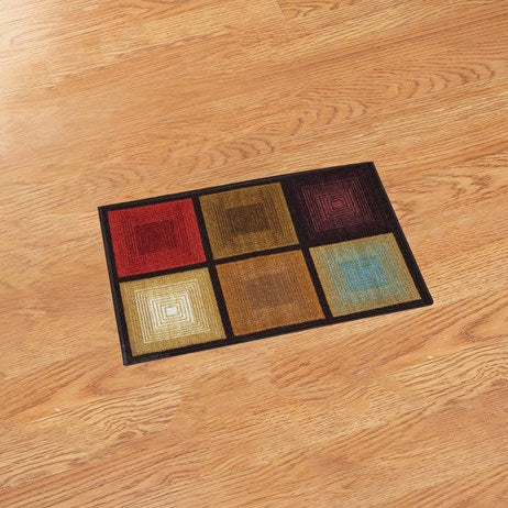"20""*30""Optic Squares Accent Rug"