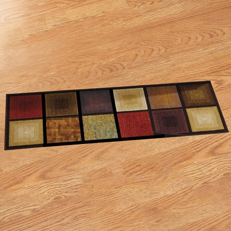 "20""*59"" Optic Squares Accent Rug"