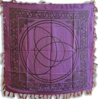"Purple Triquetra altar cloth 36"" x 36"""