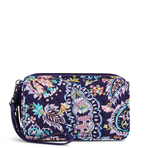 RFID All in One Crossbody Purse in French Paisley