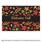Personalized Welcome Fall Family Name Doormat 18 x 24