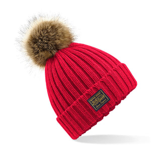 Ladies' Bobble Hat With Classic Label